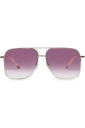 Le Specs Women's Equilateral 58MM Aviator Sunglasses - Bright