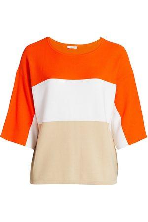 Joan Vass Women's Tri-Color Knit Sweater - - Size 2X (18-20)