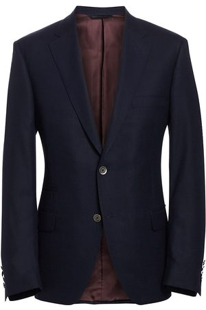 Saks Fifth Avenue Men's COLLECTION BY SAMUELSOHN Classic-Fit Wool Travel Blazer - - Size 48 R