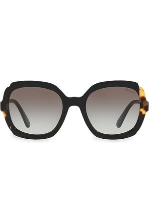 Prada Women's 54MM Contrasted Rounded Square Sunglasses