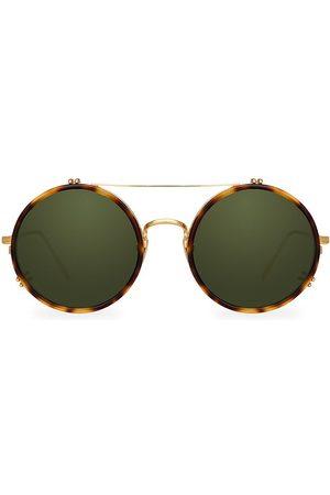 Linda Farrow Women's 741 C5 Round Aviator Sunglasses