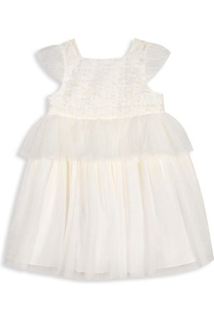 Pippa & Julie Baby's & Little Girl's Floral Appliqué Tiered Dress - - Size 6