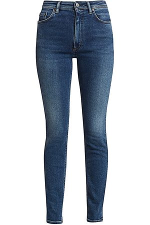 Acne Studios Women's Faded High-Rise Slim-Leg Jeans - - Size 25 (2)