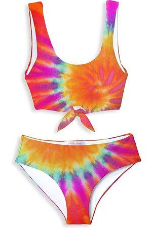 STELLA COVE Little Girl's & Girl's 2-Piece Tie-Dye Front-Knot Bikini Set