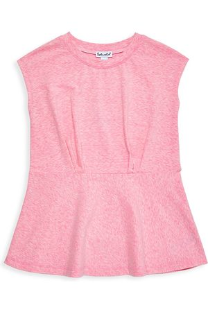 Splendid Little Girl's & Girl's Pintuck Peplum Shirt - - Size 12