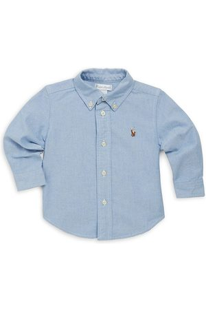 Ralph Lauren Baby Boy's Cotton Oxford Sportshirt - - Size 3 Months