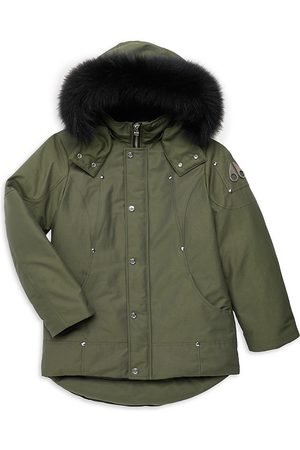 Moose Knuckles Little Kid's & Kid's Fox Fur-Trimmed Parka - - Size Medium (10-12)