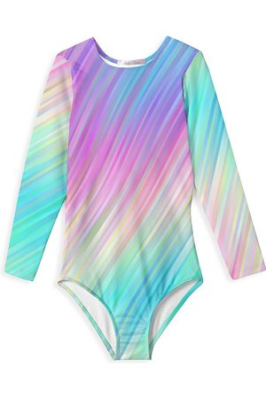 STELLA COVE Little Girl's & Girl's Rain Long-Sleeve One-Piece Swimsuit