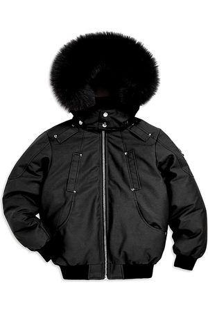 Moose Knuckles Little Boy's & Boy's Fox Trim Bomber Jacket - - Size Small (7-8)