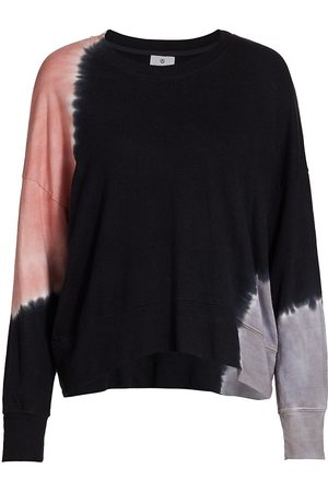 SUNDRY Women's Terry Tie-Dye Oversized Sweatshirt - Terracotta Charcoal - Size Small