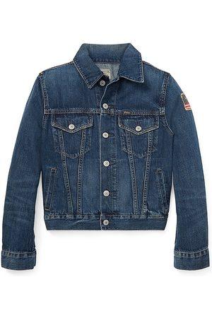 Ralph Lauren Boy's Trucker Denim Jacket - - Size Medium (10-12)