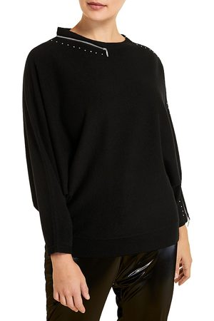 Persona by Marina Rinaldi Women's Mixed Wool Zip-Detail Pullover - - Size Medium (12-14)