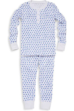 Roller Rabbit Baby's, Little Kid's & Kid's Two-Piece Hearts Cotton Pajama Top & Pants Set - - Size 2