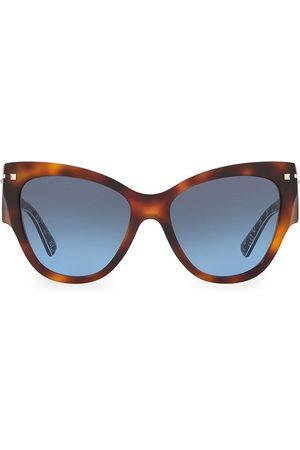 VALENTINO Women's Garavani 55MM Tortoise Cat Eye Sunglasses