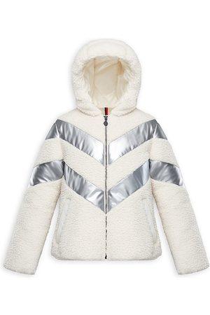 Moncler Little Girl's & Girl's Cabourg Teddy Polar Faux Fur Fleece Jacket - - Size 12