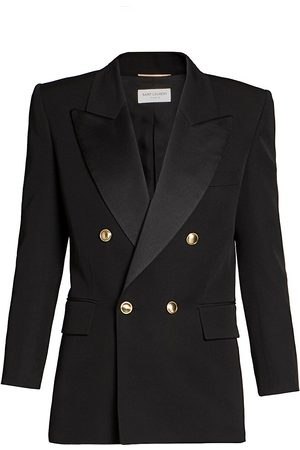 Saint Laurent Women's Double Breasted Blazer - - Size 44 (12)