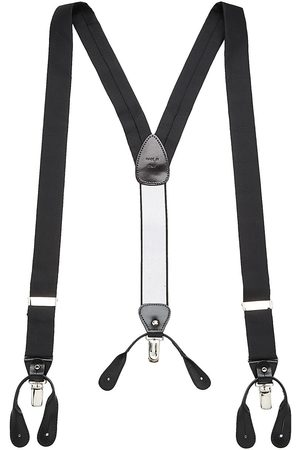 Saks Fifth Avenue Men's COLLECTION Silk & Leather Suspenders