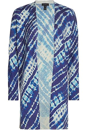 Saks Fifth Avenue Women's COLLECTION Tie Dye Open Silk & Cashmere Duster Cardigan - - Size XS
