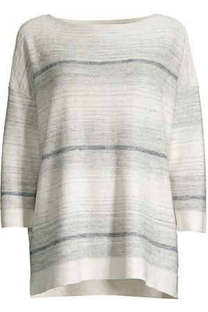 Lafayette 148 New York Women's Ombre Linen-Blend Sweater - - Size Small