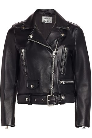 Acne Studios Women's Leather Moto Jacket - - Size 32 (0)