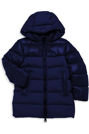 HERNO Boy's Mixed Media Nylon Glossy Parka - - Size 14