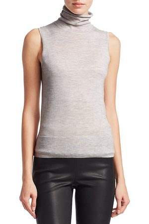 Saks Fifth Avenue Women's COLLECTION Cashmere Turtleneck Shell - - Size XS
