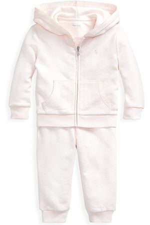 Ralph Lauren Baby Girl's 2-Piece Atlantic Terry Jogger Set - - Size 3 Months