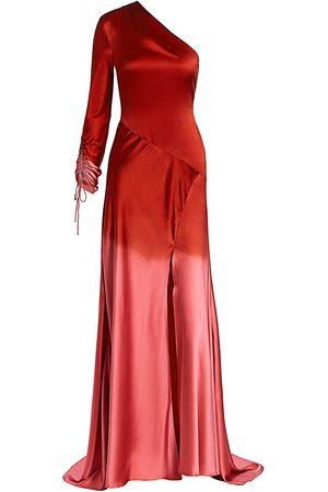 Alejandra Alonso Rojas Women's Dip-Dye Silk One-Shoulder Gown - - Size 0