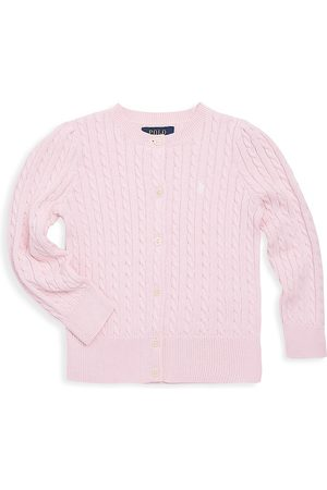Ralph Lauren Girl's Cable-Knit Cotton Cardigan - - Size Small (7)