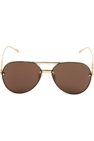 Bottega Veneta Women's 61MM Aviator Sunglasses
