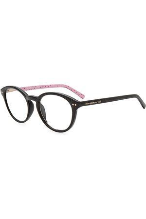 Kate Spade Women's Kinslee 48MM Blue Block Round Eyeglasses