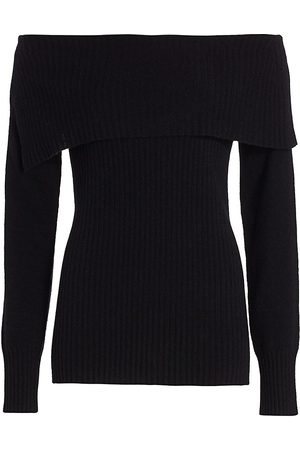 Saks Fifth Avenue Women's COLLECTION Off-The-Shoulder Cashmere Sweater - - Size XS