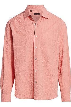 Saks Fifth Avenue Men's COLLECTION Seersucker Sport Shirt - - Size Small