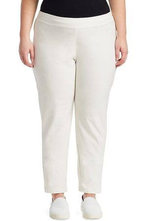 Eileen Fisher Women's System Slim Stretch-Crepe Ankle Pants - - Size 1X (14-16)