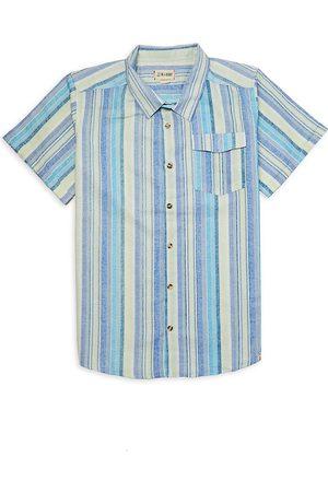 Me & Henry Little Boy's & Boy's Striped Button-Front Short-Sleeve Shirt - - Size 16