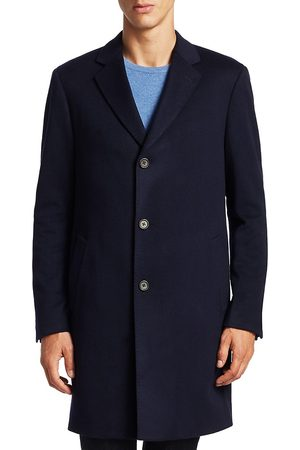 Saks Fifth Avenue Men's COLLECTION Buttoned Cashmere Topcoat - - Size 38 S