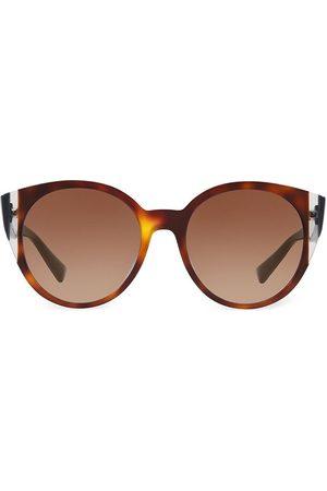 VALENTINO Women's 55MM Round Sunglasses