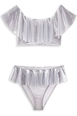 STELLA COVE Little Girl's 2-Piece Metallic Bikini Set - - Size 6