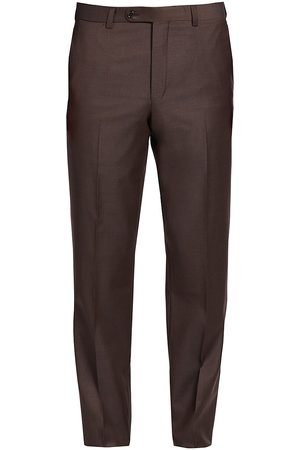Saks Fifth Avenue Men's COLLECTION Wool Flat-Front Pants - - Size 30
