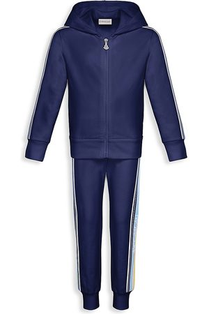 Moncler Little Girl's & Girl's 2-Piece Side Stripe Jacket & Track Pants Set - - Size 12