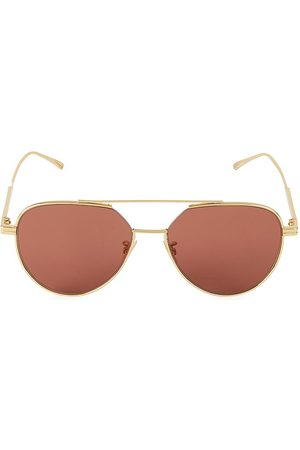 Bottega Veneta Women's 57MM Aviator Sunglasses
