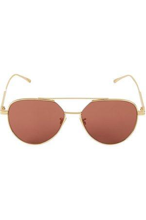Bottega Veneta Women's 57MM Aviator Sunglasses