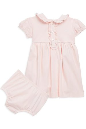 Ralph Lauren Baby Girl's Polo Dress & Bloomers Set - - Size 9 Months