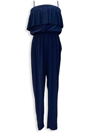 Un Deux Trois Girl's Tiered Tapered Jumpsuit - - Size XL (16)
