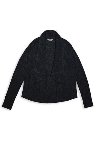 HABITUAL Girl's Cortsie Waterfall Collar Cardigan - - Size 7-8