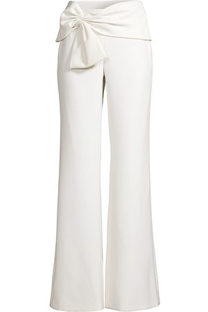 Sachin & Babi Women's Whitley Bow-Detailed Wide-Leg Pants - Ivory - Size 12