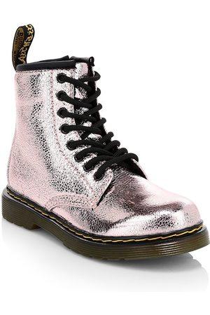 Dr. Martens Little & Kid's 1460 Crinkle Metallic Combat Boots - - Size 3 UK (4 Child US)