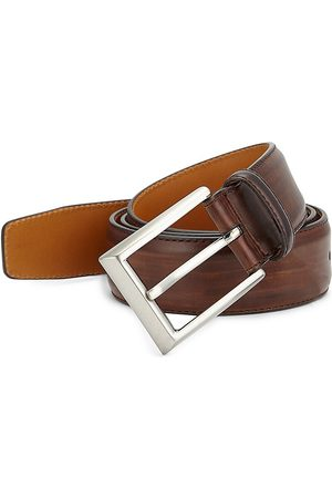 Saks Fifth Avenue Men's COLLECTION BY MAGNANNI Leather Buckle Belt - - Size 46