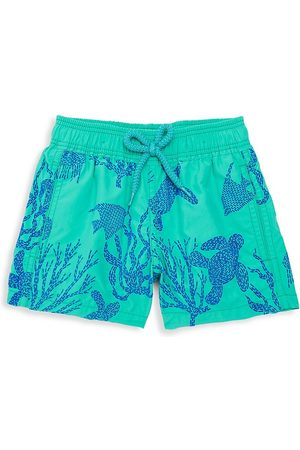 Vilebrequin Little Boy's & Boy's Coral and Turtles Swim Trunks - - Size 14