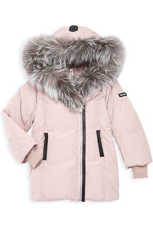 Mackage Girl's Fur-Trim Classic Down Jacket - - Size 12